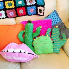 I made some cactus cushions out of old tops,... - That's So Yesterday