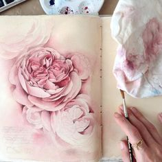 The young Russian artist Elena Limkina reveals the inside of her fascinating sketchbook, where each page contains beautiful drawings in ink or watercolor. Sketchbook Drawings, Artist Sketchbook, Art Drawings, Sketching, Watercolor Flowers, Watercolor Paintings, Watercolors, Creative Diary, Arte Floral