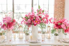 Entertain your friends with a beautiful lunch for the girls.  And go overboard with colour and flowers.  Because you can.  And because no one will appreciate it more than a room full of women!