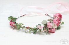 Ready to ship Pink peony eucalyptus flower crown от ByKochetova
