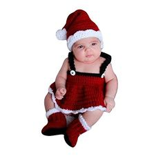 LaMarre Newborn Baby Girls Boys Costume Clothes Photography Props Handmade Knitting Cotton Suit Christmas Set Perfect Photo Shoot Outfit baby girls *** Visit the image link more details. (This is an affiliate link) #ChristmasGirlsOutfit