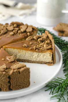 The Calorie Is a Unit of Energy - Tricks of healthy life Cheesecake Caramel, Cheesecake Recipes, Dessert Recipes, Christmas Food Ideas For Dinner, Christmas Desserts, Simple Christmas, Christmas Cheesecake, Pancake Dessert, Pie Co