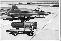 NORTHROP F-20 TIGERSHARK PHOTO.