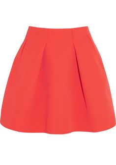 Falda plisada cintura alta-rojo EUR€18.89