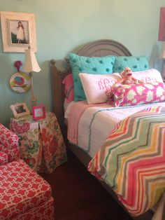 Design by Laura Carr. Precious little girl's bedroom!