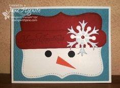 Big Shot embossing folder, Punch Art Cards, Sizzix Big Shot Top Note Die ideas, snowman cards, snowman punch art, Stampin' Up! Christmas cardsPosted under Big Shot Examples, Cards, Christmas Cards, Punch Art Cards, Christmas in July, card making, paper crafts
