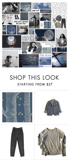 """gone, gone, the damage done"" by cosmic-grace ❤ liked on Polyvore featuring rian, Cole & Son, GUESS, American Apparel, Madewell, women's clothing, women, female, woman and misses"