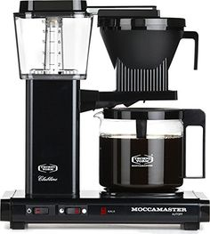 Moccamaster KBG 741 10-Cup Coffee Brewer with Glass Carafe, Black Metallic