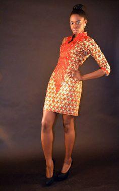 OBIANUJU AFRICAN Print Ankara Dress by AFRICANISEDSHOP on Etsy