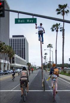 Самый высокий велосипед в мире