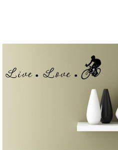 #2 Live Love Cyclist 22x6 Inches Symbol Matte Black Vinyl Silhouette Keypad Track Pad Decal Window Wall Quotes Sayings Art Vinyl Decal SSC inc. http://www.amazon.com/dp/B00LEPBF22/ref=cm_sw_r_pi_dp_eDHUtb1XY6YG1TPN
