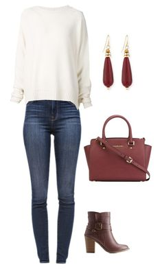 """""""Untitled #482"""" by netteskytte on Polyvore featuring Charlotte Russe, J Brand, URBAN ZEN, MICHAEL Michael Kors and Sequin"""