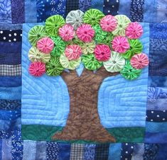 8 Spring Themed Quilt Blocks See the butterfly block.