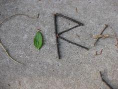 help kiddos find their names in nature #weteach