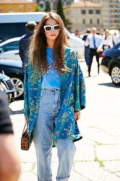 Street Style: A Hippie Chic Take On Vintage-Style Denim                                                                                                                                                      More
