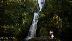 Portland Engagement Photographer - Bridal Veil Falls   Blog
