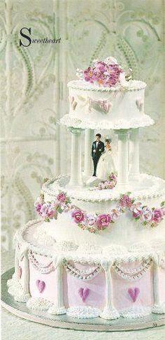 Pink Wedding Cakes design w/ or w/o the hearts at the bottom Elegant Wedding Cakes, Cool Wedding Cakes, Beautiful Wedding Cakes, Wedding Cake Designs, Beautiful Cakes, Wedding Ideas, Pretty Cakes, Cute Cakes, Wilton Cakes