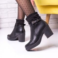 Cizme scurte cu toc dama negre Natali Biker, Boots, Casual, Fashion, Shearling Boots, Moda, Fashion Styles, Heeled Boots, Fashion Illustrations