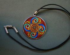 collar de esmalte cloisonne por Kokasart en Etsy
