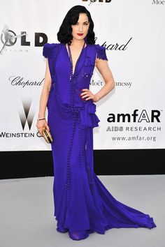Dita von Teese in Jean Paul Gaultier Couture at the amfAR Cinema Against AIDS Gala (2008)
