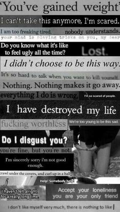 I have destroyed my life..