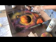 Spray Paint Art Tutorial: Cave Walls and Cities