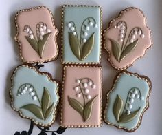 lily of the valley decorated cookies - Google Search