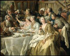 JF de TROY le déjeuner de chasse Louvre 1737