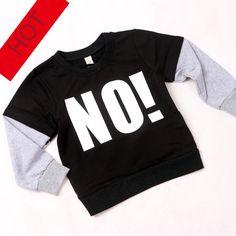"$12.99 (Buy here: https://alitems.com/g/1e8d114494ebda23ff8b16525dc3e8/?i=5&ulp=https%3A%2F%2Fwww.aliexpress.com%2Fitem%2FNEW-INS-autumn-NUNUNU-Hoodie-children-s-letter-NO-Sweater-Baby-Cotton-full-sleeve-T-shirt%2F32554592752.html ) NEW INS autumn NUNUNU Hoodie children's letter""NO"" Sweater Baby Cotton full sleeve T-shirt boy girl tops black free shipping for just $12.99"