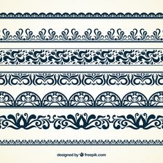 Discover the best free resources of Border Stencil Patterns, Painting Patterns, Fabric Patterns, Border Embroidery Designs, Quilting Designs, Alpona Design, Printable Border, Deco Paint, Alchemy Symbols
