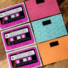 My Birthday Invitations For 80 S Party Retro Cassette Tapes wallpaper 80s Birthday Parties, 30th Party, 80th Birthday, Birthday Ideas, 30th Birthday Invitations, Party Invitations, Eighties Party, Party Fiesta, 80s Theme