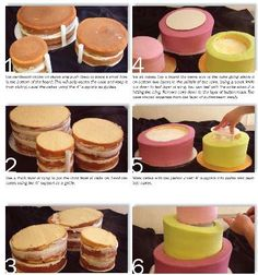 How to make a topsy turvy cake.