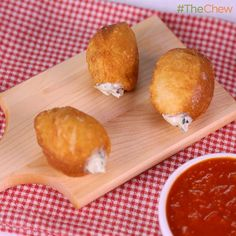 Swiss Chard & Ricotta Pizza Poppers by Carla Hall! #TheChew
