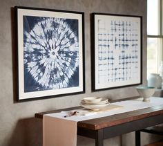 Shibori Cross Hatch Print