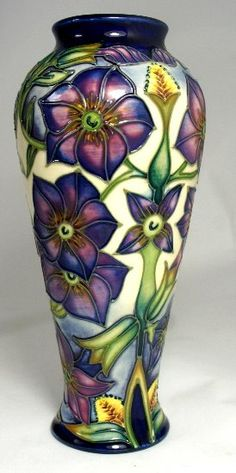 Moorcroft Phlox Vase - Numbered Edition dated 2002 20cm in height