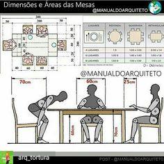 Manual do Arquiteto 📚 ( Restaurant Design, Dining Room Design, Kitchen Design, Cafe Design, House Design, Design Design, Human Dimension, Architecture Details, Woodworking Plans