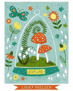 Giveaway: Happy Go Lucky Creations Lilla Rogers, Doodle, Love Illustration, Fungi, Illustrations And Posters, Painting & Drawing, Just In Case, Pots, Creations