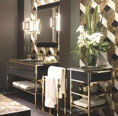 Le style Art déco apporte classe et originalité à la salle de bains. Découvrez nos 5 conseils pour adopter le style Art Déco dans votre salle de bains. Art Deco Kitchen, Art Deco Bathroom, Bathroom Mirrors, Ikea Bathroom, Bathroom Ideas, Master Bathroom, Kitchen Design, Bathroom Marble, Bathroom Black