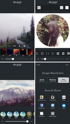 Cool camera apps: AfterLight - so many great filters and easy editing if you want something quick.