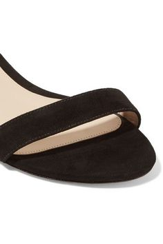 Alexandre Birman - Atena Bow-embellished Suede Wedge Sandals - Black - IT36.5