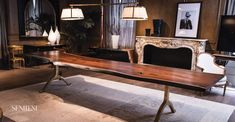 SENTIENT Extra Long Live Edge Dining Table http://www.sentientfurniture.com/live-edge-american-black-walnut-dining-table