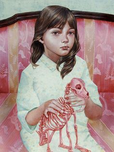 "Casey Weldon, ""precious"" oil on wood. prints available as well."