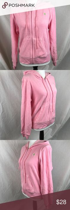 "Lilly Pulitzer Full Zip Hoodie Pink Velour Very Good Condition, No Flaws 80% Cotton, 16% Nylon, 4% Spandex  Chest: 22"" Length: 23"" Sleeve: 25"" Lilly Pulitzer Tops Sweatshirts & Hoodies"