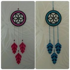 Dreamcatchers hama beads by pysselraven