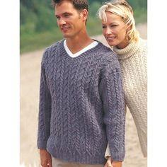 Free Experienced Men's Sweater Knit Pattern