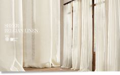 Sheer Belgian Linen Drapery