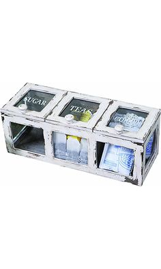 Vintiquewisetm old world map suitcasedecorative box best price creative co op farm life coffeetea bin 16 inch distressed white wood best price gumiabroncs Image collections
