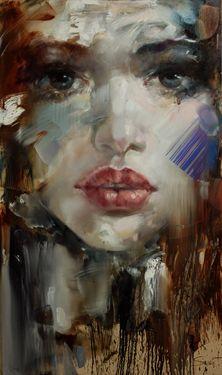 "Saatchi Online Artist Stas Sugint; Painting, ""Miss1"" #art"