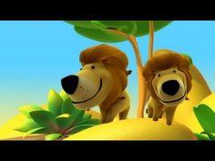 Alex en la selva, aprender sobre el león. Dibujos educativos infantiles para niños pequeños -- Alex in the jungle, learn about the lion. Educational cartoon videos for toddlers