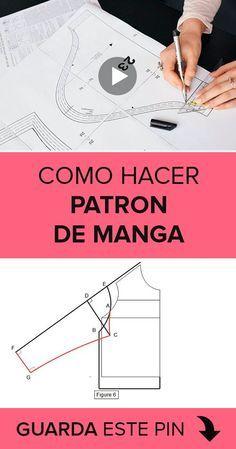 ¿Quieres aprender como hacer un patrón de manga? Sewing Hacks, Sewing Tutorials, Sewing Crafts, Dress Tutorials, Crochet Beanie Pattern, Crochet Motif, Sewing Clothes, Diy Clothes, Barbie Clothes